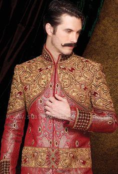 e7712f8289 Mens wear, groom wedding dress, groom sherwani, indo western, sherwani indo  western, designer sherwani, marriage sherwani, indian wedding wear, ...
