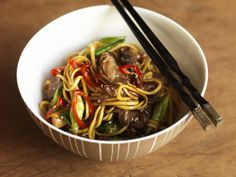 Food in a flash is epitomised by the stir-fry. A meal in itself, it makes a fantastic work-night dish. Don't be shy about experimenting with the ingredients, substituting and adding things that might need eating up in the fridge. Aga Recipes, Cooking Recipes, Sesame Beef, Aga Cooker, Beef Fillet, Beef Stir Fry, Oyster Sauce, Wok, Oysters