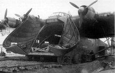 """Messerschmitt Me 323 Gigant (""""Giant"""")- German military transport aircraft, circa 1943."""