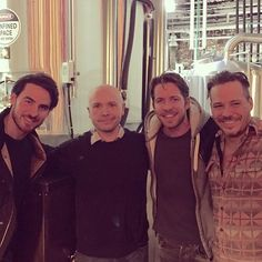 """Sean Maguire """"Thanks to Nigel & jack & all the staff very excited to be making our first batch of beer. Michael Raymond James, Sean Maguire, Ouat Cast, Irish Eyes Are Smiling, Colin O'donoghue, Very Excited, Captain Hook, Irish Men, Fine Men"""