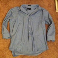 Men's Blue dressy button down. Men's Blue dressy button down. Dress shirt. Great condition!!  Size XL or 17-17 1/2 32/33 (refer to picture) giorgio brutini Shirts Casual Button Down Shirts