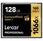 Lexar 256GB Professional 1066x CF (UDMA 7) The Lexar Professional 1066x Compact Flash card lets you quickly capture and transfer high-quality photos and 1080p full-HD, 3D, and 4K video, with a read transfer speed up to 1066x (160MB/s). And you'll power through post-production with high-speed card-to-computer file transfer. This dramatically accelerates workflow from start to finish, so you can save time and get back to the business of photography.