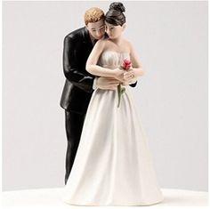 "Joinwin ""Yes to the Rose"" Custom Bride & Groom Couple Figurine Wedding Cake Topper,Wedding Cake Decoration ""Yes to the Rose"" Custom Bride & Groom Couple Figurine Wedding Cake Topper"