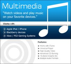 Watch Videoes and play music on your Favorite Device!