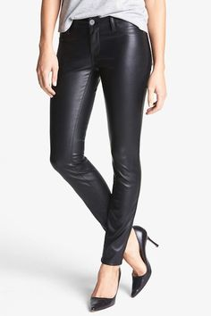 BLACKNYC vegan leather pants | Camille Styles