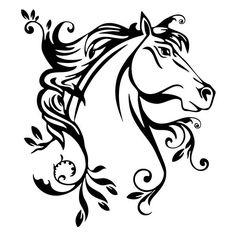 Horse leaf vinyl decal sticker for Car/Truck Window Computer stallion laptop mac - Horse leaf vinyl decal sticker for Car/Truck Window Computer stallion laptop mac - Painted Horses, Horse Head, Horse Art, Saudade Tattoo, Horse Stencil, Horse Flowers, Rodeo Cowgirl, Horse Silhouette, Truck Art