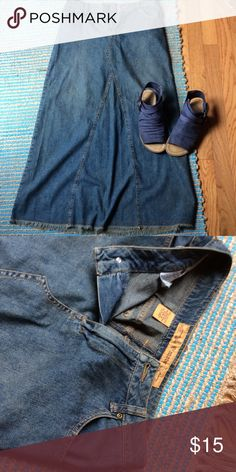 Long denim skirt Excellent used condition Skirts A-Line or Full