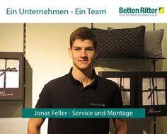 Hinter einem erfolgreichen Unternehmen steckt immer ein ambitioniertes Team. Heute stellen wir Ihnen Jonas Feller vor. Sein Aufgabenbereich umfasst den Service und die Montage.  Tolles Team = Glückliche Kunden = Erfolgreiches Unternehmen www.bettenritter.com/Team