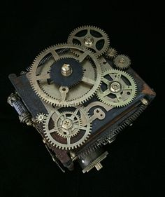 Steampunk Clockwork Jewelry box handmade and oneofakind with