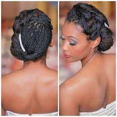 30 Beautiful Black Braided Wedding Hairstyles