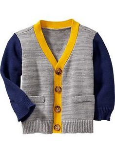 Color-Block Cardis for Baby Product Image Boys Fall Fashion, Baby Boy Fashion, Toddler Fashion, Resale Clothing, Future Clothes, Boys Sweaters, Baby Wearing, Baby Boy Outfits, Crochet