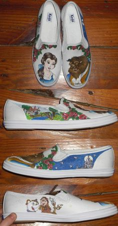 Beauty and the Beast - shoes by madeleinedemontreal.deviantart.com on @deviantART