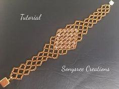 Create this Right Angle Weave Bracelet. Gain instant access to comprehensive bead weaving courses, step-by-step beading patterns, plus a community of beaders. Beaded Braclets, Beaded Bracelets Tutorial, Beaded Bracelet Patterns, Woven Bracelets, Jewelry Patterns, Beading Patterns, Netted Bracelet, Embroidery Bracelets, Diamond Bracelets
