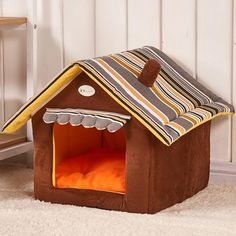 Cheap dog bed, Buy Quality fashion dog bed directly from China pet bed Suppliers: Fashion Striped Removable Cover Mat Dog House Dog Beds For Small Medium Dogs Pet Products House Pet Beds for Cat Cama Perro Dog House Bed, House Beds, Canis, Dog Pen, Pet Kennels, Niches, Cute House, Sweet House, Medium Dogs