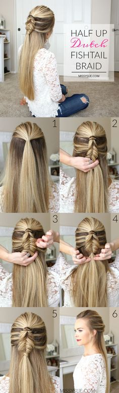 nice half-up-dutch-fishtail-braid-hairstyle-tutorial... by http://www.dana-hairstyles.xyz/hair-tutorials/half-up-dutch-fishtail-braid-hairstyle-tutorial/