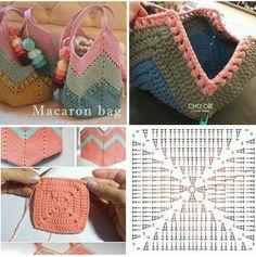 Crochet bag making - # bag # crochet # making - Taschen - Bolsas Crochet Beach Bags, Free Crochet Bag, Crochet Market Bag, Crochet Tote, Crochet Handbags, Crochet Purses, Granny Square Bag, Knitted Bags, Handicraft