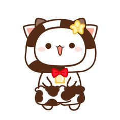 Cute Couple Cartoon, Cute Cartoon, Kawaii Cat, Kawaii Anime, Cute Images, Cute Pictures, Grey And White Cat, Chibi Cat, Cute Love Gif