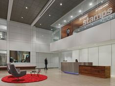 #WareMalcomb Stamps.com lobby space featured on GPI Design blog #interiordesign #architecture #inspiration
