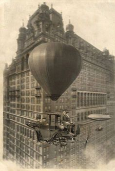 A flying car - steampunk style. Design Steampunk, Steampunk Fashion, Steampunk Airship, Dieselpunk, Steampunk Bicycle, Steampunk Artwork, Photo Humour, Creation Photo, Art Plastique