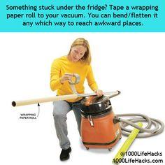 clean under fridge