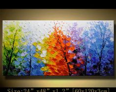 Original Abstract Painting, Modern Textured Painting,Impasto Landscape Textured Modern Palette Knife Painting,Painting on Canvas byChen g096