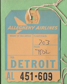 Allegheny Airlines - DTW Detroit, MI | Flickr - Photo Sharing!