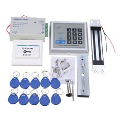 125KHz RFID ID Card Password Access Control System Kit Electric Magnetic Lock