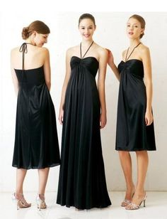 Elastic  Sweetheart with Spaghetti Halter in Empire Slim Column Shape Short or Long Hot Sell Bridesmaid Dress BM-0196