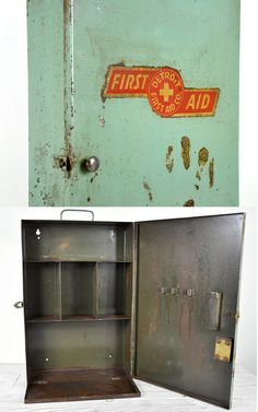 "Metal Wall Cabinets vintage heavy metal industrial medical wall cabinet 26"" x 20""h x"