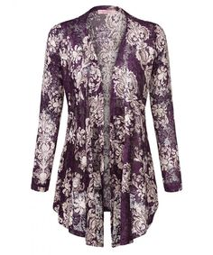 Womens Boho Long Sleeve Wrap Kimono Cardigans Casual Coverup Coat Tops Outwear - Purple - C71899OHLOE,Women's Clothing, Sweaters, Cardigans  #Sweaters #style #fashion #outfits #Cardigans