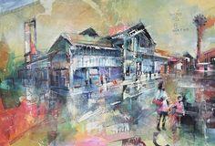 Virtual tour of Rob Wilson Art, Whaley Bridge Christian Hook, Mike Bernard, Wilson Art, Sense Of Place, Built Environment, Urban Landscape, Manchester, Original Paintings, Vibrant