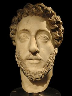 Portrait of the roman emperor Commodus.  Marble. 180—192 A.D.  Inv. No. I 15.  Vienna, Museum of Art History, Collection of Classical Antiquities.