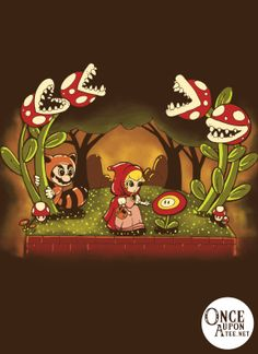 """""""Little Red Riding Peach"""" is a world where our favorite Plumber is the wolf.  Toview more information about the artist,Harantula, clickhere."""