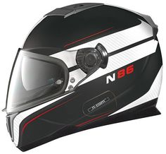 #Nolan_N_86 Rapid #MotorcycleHelmets are the standard in Flat Black/White, offering the greatest versatility and convenience of motorcycle Nolan N-86. Get yours at HelmetCity.com