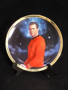 Star Trek 25th Anniversary plate  Scotty plate by SciFiTastic