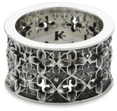 King Baby Men's Wide Relic Band Sterling Silver Ring, Size 10 King Baby. $300.00