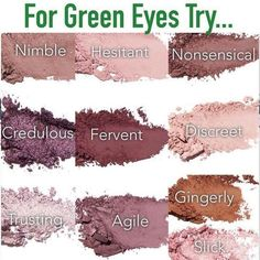 Younique Eyeshadow - Makeup Tips Lips Eyeshadow For Green Eyes, Makeup For Green Eyes, Colorful Eyeshadow, Eyeshadow Looks, Green Eyes Pop, Eyeshadow Makeup, Hazel Eye Makeup, Natural Eye Makeup, Hazel Eyes