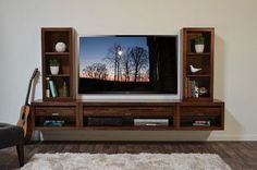 Floating Wall Mounted TV Stand - Eco Geo modern