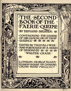 A poem in six books; with the fragment Mutabilitie. by Thomas J. Wise, pictured by Walter Crane History Of Literature, British Press, Vintage Illustration Art, Walter Crane, Wonder Book, Pre Raphaelite, Japanese Prints, Arts And Crafts Movement, Faeries
