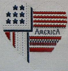 patriotic needlepoint | Pierrette's Stitching Gallery: Patriotic Heart: Gay Ann Rogers ...