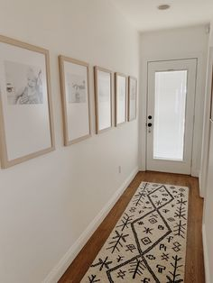 Hallway Decorating 39899146685469235 - our simple hallway makeover – almost makes perfect Source by raquelnjoya White Hallway, Front Hallway, Hallway Wall Decor, Hallway Walls, Upstairs Hallway, Entryway Decor, Narrow Entry Hallway, Hall Way Decor, Hallway Decorations