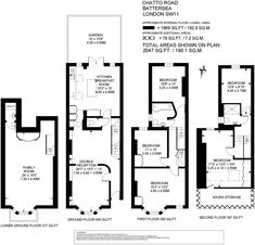 5 bedroom terraced house for sale in Chatto Road, Battersea, London, SW11