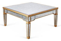 Rowan Antiqued Coffee Table, Gold on OneKingsLane.com 1k