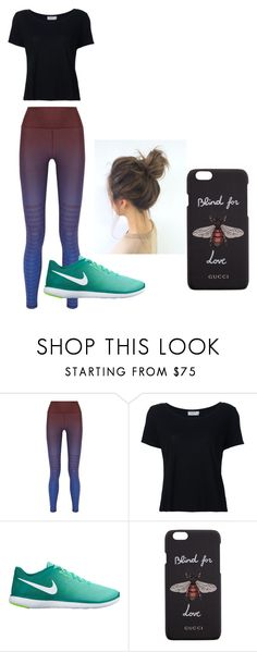 """Ready to Workout"" by dejarrashad on Polyvore featuring adidas, Frame, NIKE and Gucci"