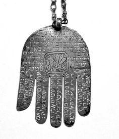 Antique Judaica - Silver, Persia, 19th Century, Hamsah.