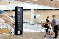 Western Sydney University Parramatta Campus - The Urban Letter Environmental Graphic Design, Environmental Graphics, Pylon Sign, Floor Graphics, Sign System, Western University, Wayfinding Signage, Learning Spaces, Graphic Design Studios