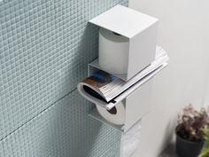 """WC-Rollenhalter """"inTeam"""" von ex.t, Toilettenpapierhalter mit Zeitungsablage"""