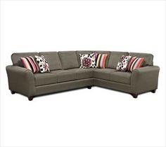 Bon Nebraska Furniture Mart U2013 Fusion Furniture Contemporary 2 Piece Corner  Sectional (Basement Couch)