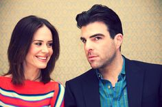 Sarah Paulson (played Billie Dean Howard and Lana Winters) and Zachary Quinto (played Chad Warwick and Dr. Oliver Thredson)