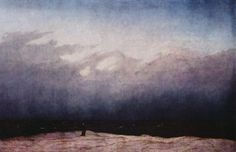 Friedrich, Caspar David: Der Mönch am Meer (Wanderer am Gestade des Meeres)